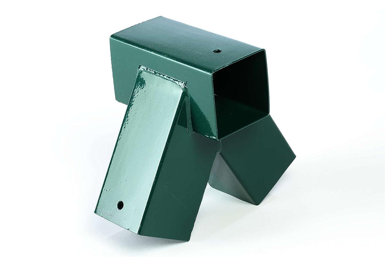 Raccord 9 x 9 mm de Gartenpirat GP6137 coloris vert foncé Connecteur balançoire bois équarri