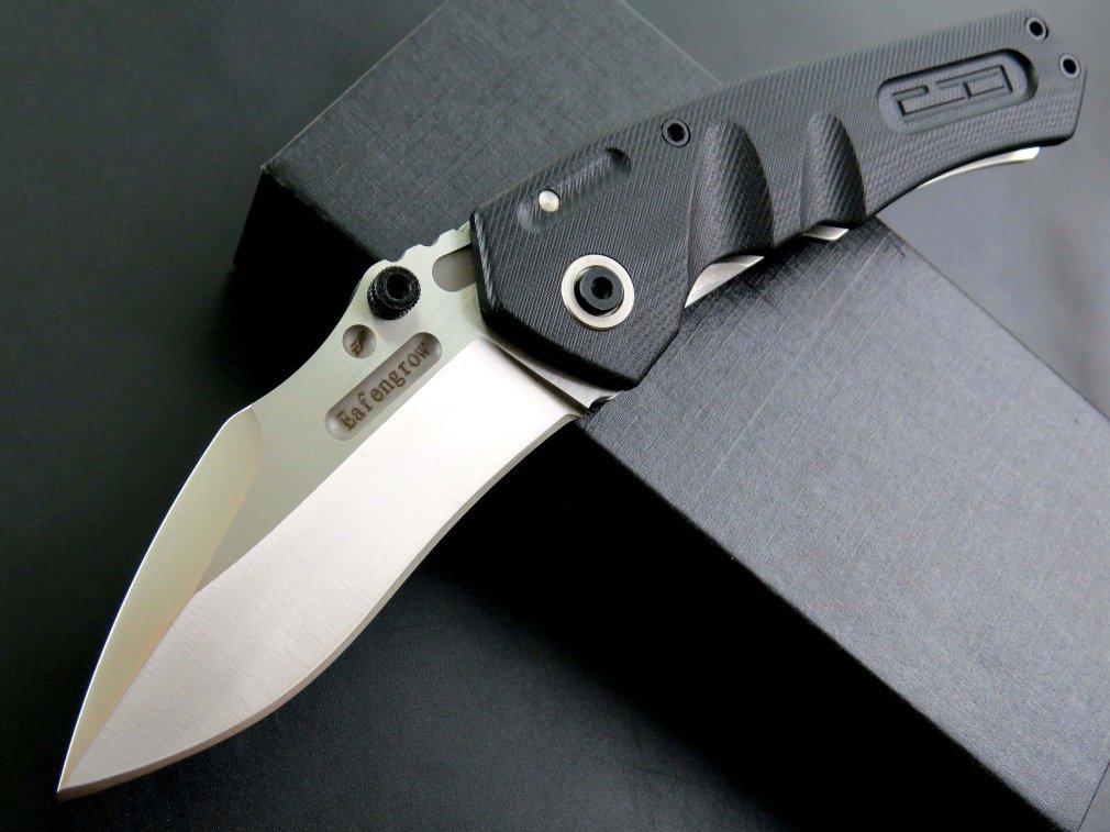 Eafengrow EF337 Folding Knife D2 Blade with G10 Handle Multi Pocket Knife Survival Outdoor Camping Survival Tool knives by Eafengrow (Image #2)