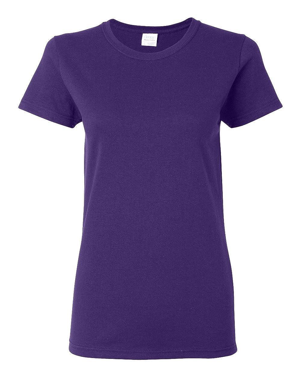 Purple Gildan Womens 5.3 oz. Heavy Cotton Missy Fit TShirt G500L (Pack of 12)