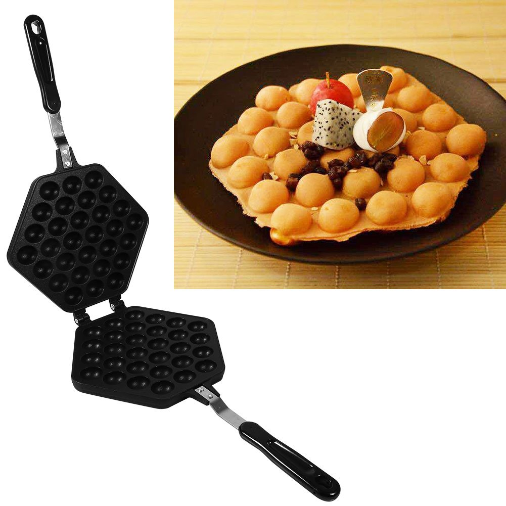 Egg Pan - Delaman Aluminum Alloy Non-Stick DIY Eggettes Pan, Bubble Egg Cake Baking Mold