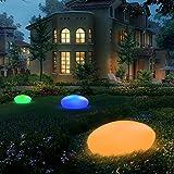Blibly Solar Garden Lights Outdoor Glow Cobblestone