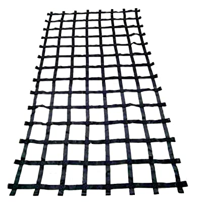 FONG 11 ft X 6 ft Climbing Cargo Net Black (132 inch x 72 inch) - Cargo Net for Climbing Adults - Climbing Net for Swingset - Climbing Net Outdoor: Toys & Games