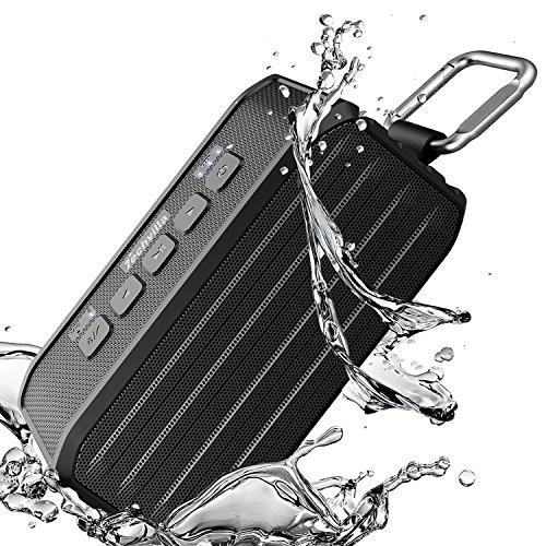 Portable Wireless Bluetooth Speakers, Techvilla Vigor1 Outdoor Bluetooth Speaker IPX6 Waterproof, Enhanced Bass, Built in Mic, 10 Hours Playtime  (Black)