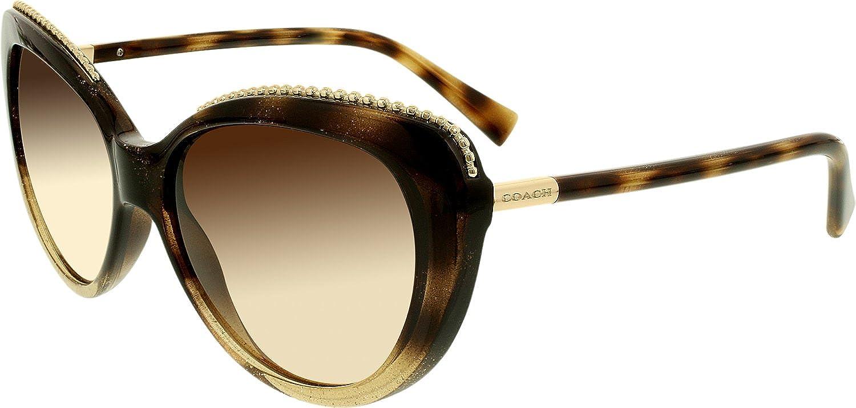 fea4dcee973 Amazon.com  COACH Women s 0HC8157 Glitter Dark Tortoise Brown Gradient  Sunglasses  Coach  Clothing