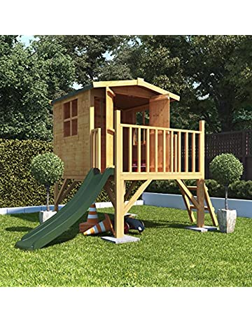 57b53341f1e9 Mad Dash BillyOh Bunny Childrens Wooden Tower Playhouse Including Slide 4x4