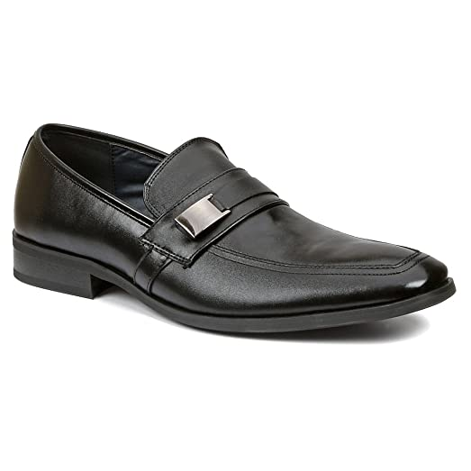 Giorgio Brutini  Mens 9 Black Leather Loafer Shoes Moccasin Toe Slip On Comfort