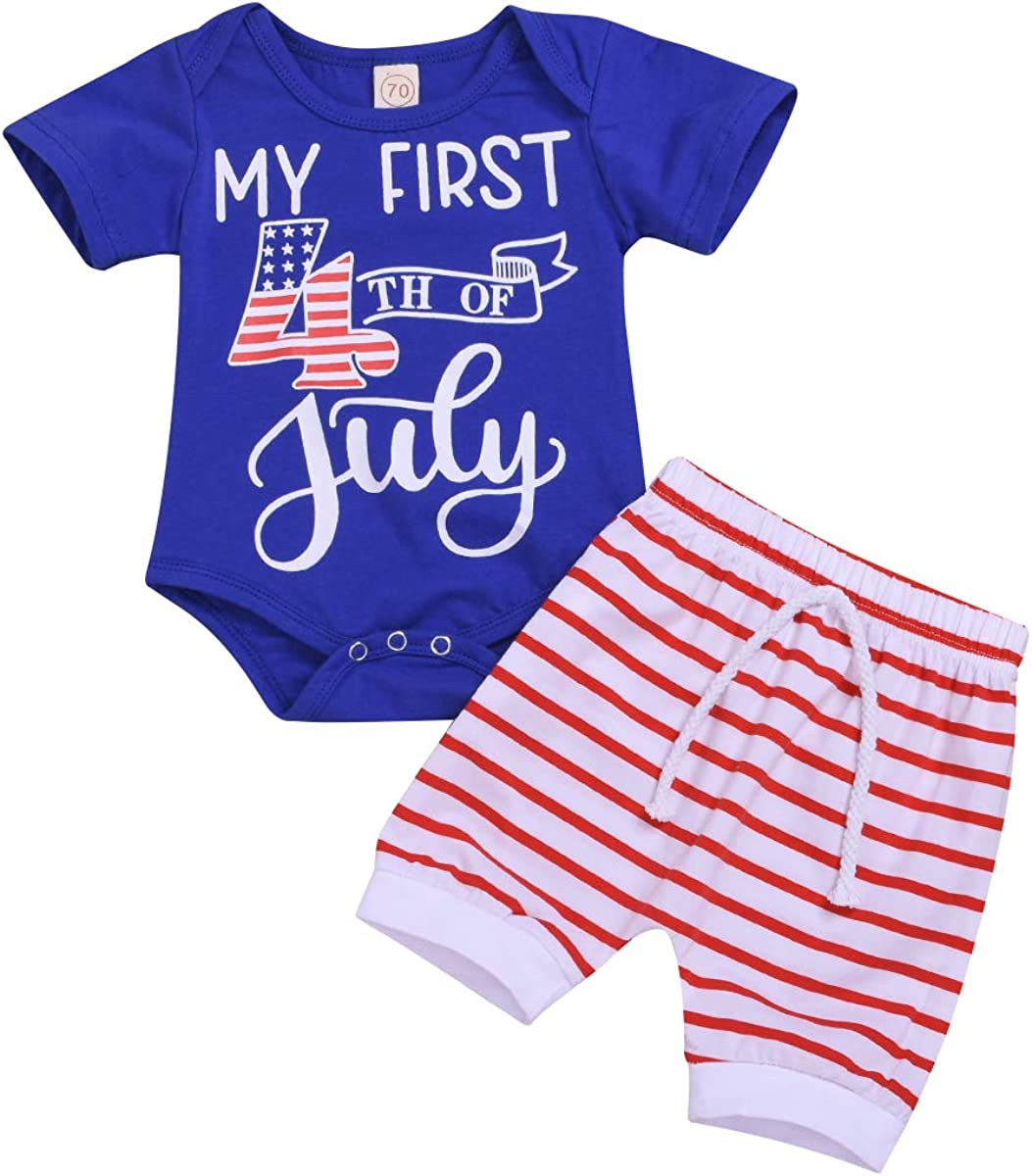 Carters Baby Infant My First 4th Fourth of July Red Shirt Top 3 12 Months NEW