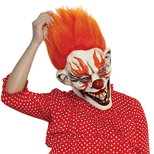GNG Toy Joker Creepy Scary - Flame Clown mask for Halloween