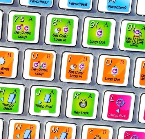 Traktor Scratch Pro New Color Keyboard Shortcut Sticker