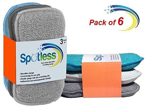 Estropajo Estropajo de cocina de doble cara esponjas de microfibra antibacteriano sin olor Dish Scrubber Cepillo