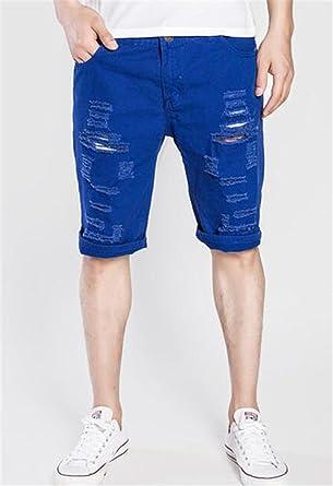 Amazon Com Gomis Denim Shorts Men New Summer Casual Hole Short