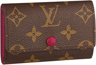 Images For Louis Vuitton Made In France >> Louis Vuitton Monogram Canvas 6 Key Holder Key Ring Fuchsia