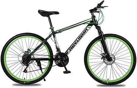 MUYU Bicicleta de montaña de 26 Pulgadas Freno de Disco Doble ...