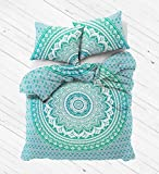 Madhu International Boho Duvet Cover with Pillow Cases - Green Ombre