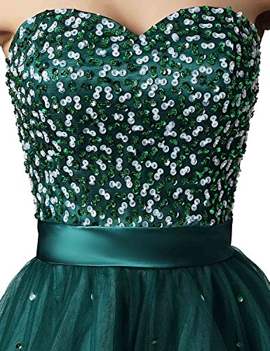 Short Green Homecoming Junior's dark Belle Tulle Gowns Dresses House with Sd101 Sleeve Prom wZEB7qH