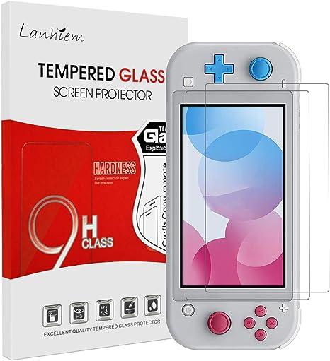 Lanhiem Protector de pantalla [2 piezas] para Nintendo Switch Lite 2019, Vidrio Cristal Templado Pantalla [Fácil instalación] [Resistente A rayones] [Garantía de Reemplazo de por Vida]: Amazon.es: Videojuegos