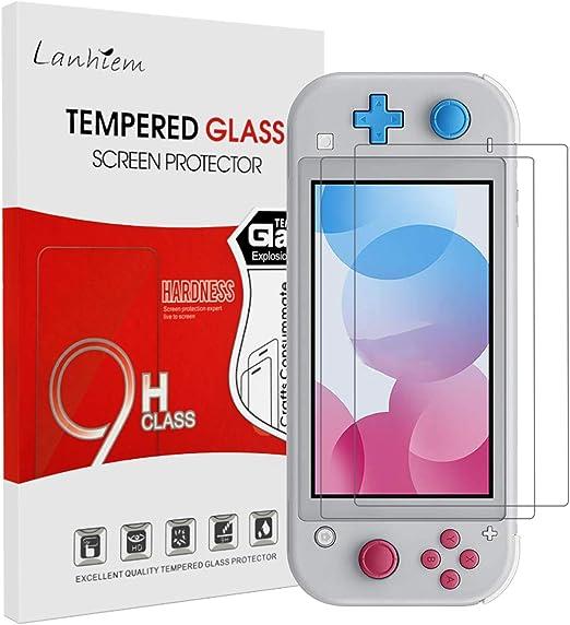 Lanhiem Protector de pantalla [2 piezas] para Nintendo Switch Lite ...