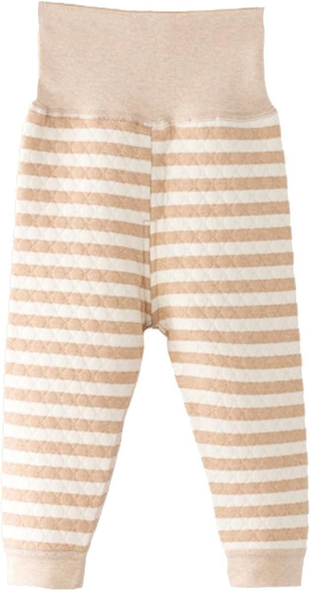 Fairy Baby Unisex Baby Organic Cotton Pajamas Pant High Waisted,3-6M