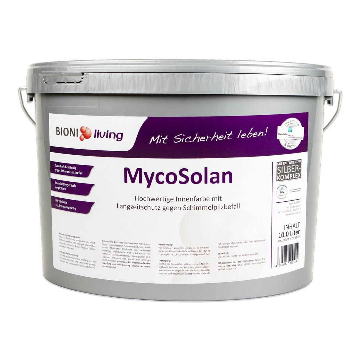 MycoSolan Innenfarbe mit Silber-Technologie (10 Liter) BIONI CS GmbH