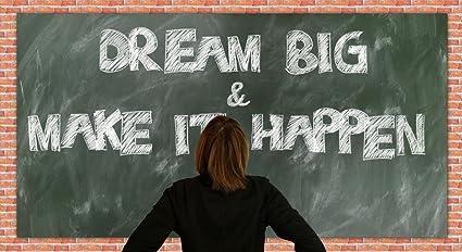 Amazon Com Laminated 44x24 Inches Poster Board School Dreams Make