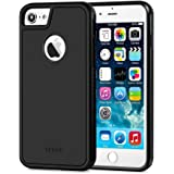 TKKOK iPhone 7 case, Slim Dual layer Heavy Duty Rugged Scratch-Resistant Shockproof Non-slip Grip Protective Case Cover [Tempered Glass Screen Protector Included] for iPhone 7-Black