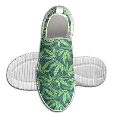 Cannabis Marijuana Pattern Breathable Fashion Sneakers Running Shoes Slip-On Loafers Classic Shoes