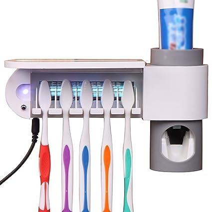 Cepillo de dientes esterilizador con dispensador de pasta de dientes cepillo de dientes esterilizador de desinfección