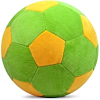 Richy Toys Stuffed Soft Toy Plush Ball Kids Birthday (Green-Yellow)