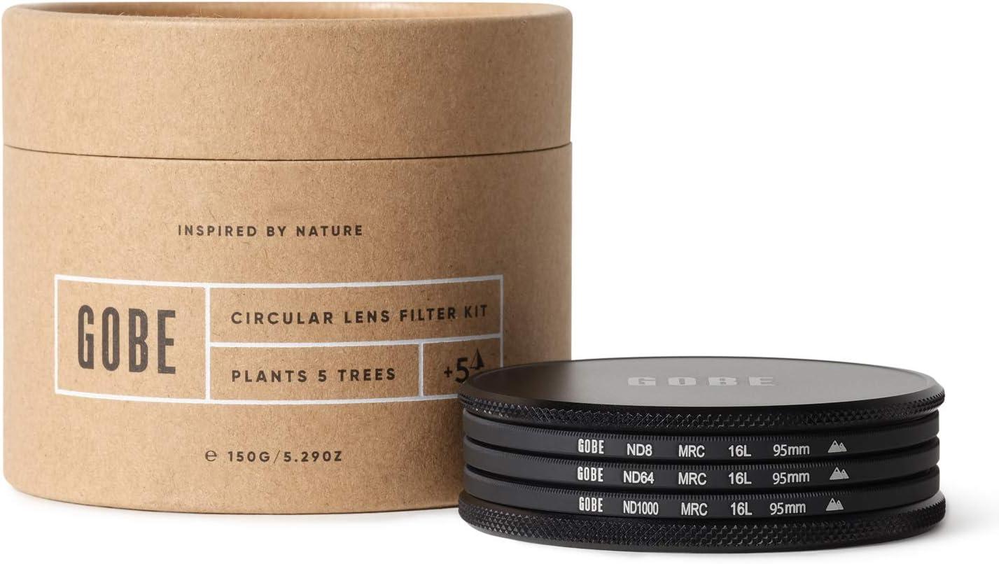 Gobe 95mm Lens Filter Kit: ND8, ND64, ND1000 (2Peak)