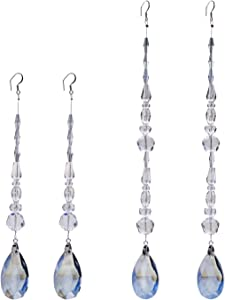 Crystal Chandelier Ornaments Hanging Teardrop Pendant Chakra Suncatcher for Home,Office,Wedding Decoration (Mirage Blue)
