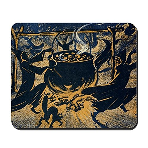 CafePress Vintage Halloween Witches Mousepad Non-Slip Rubber Mousepad, Gaming Mouse Pad]()