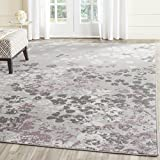Cheap Safavieh Adirondack Collection ADR115M Light Grey and Purple Contemporary Floral Area Rug (9′ x 12′)