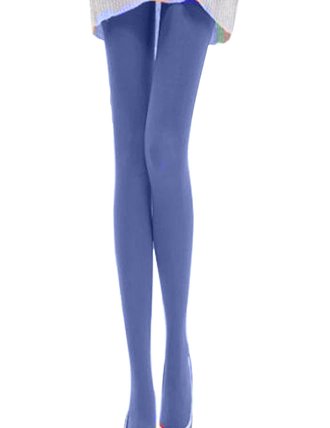 Bestgift Womens Fashion Candy Color Stretchy Leggings Tights Free Size Dark Blue BSGFBD0026-18