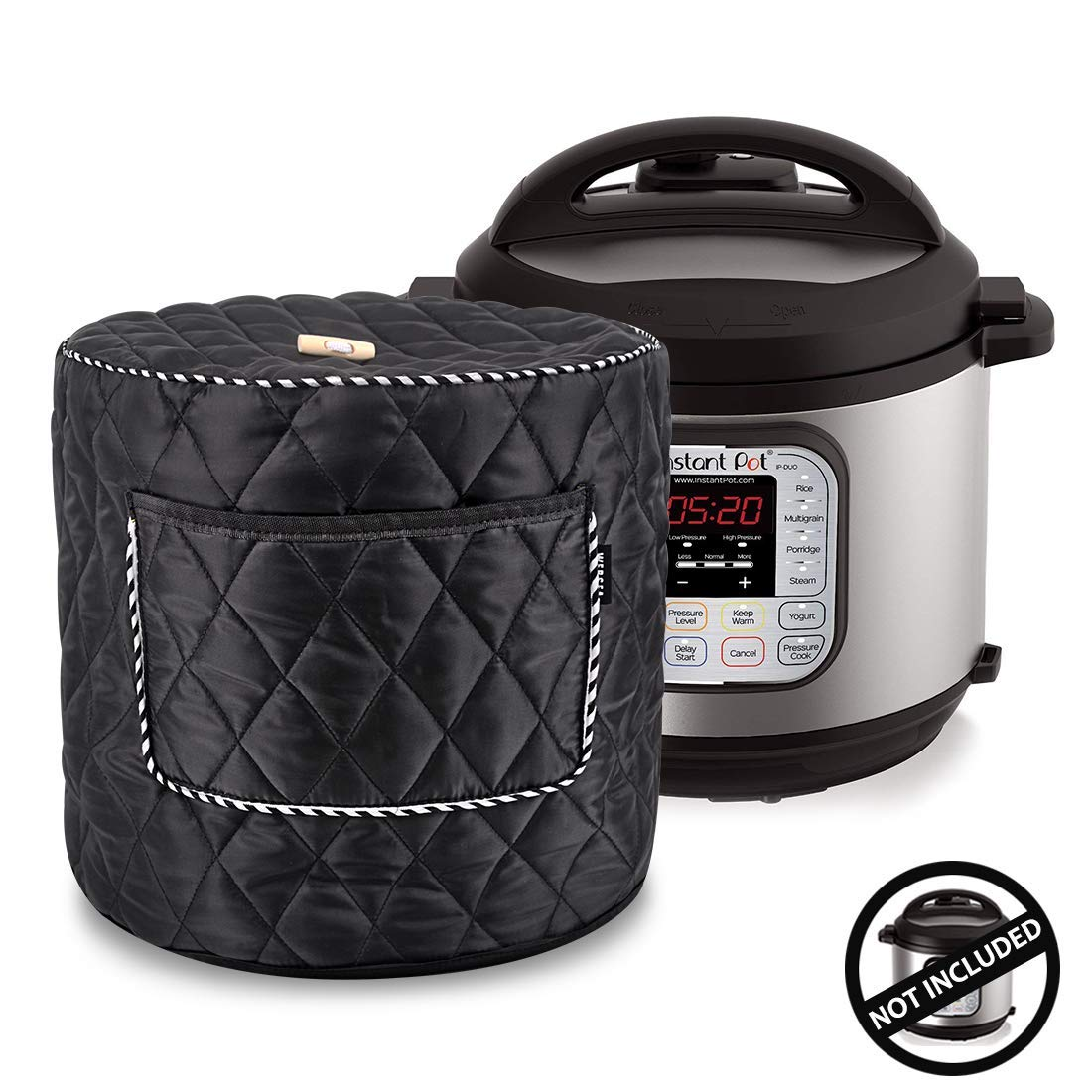 Bigens Appliance Cover for 6/8 Quart Instant Pot and Electric Pressure Cooker with Front Pocket for Accessories (6 Quart)