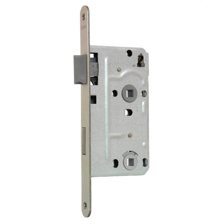 Dornma/ß: 55 mm Stulpl/änge: 235 mm Stulp 24 mm eckig, Falle /& Riegel aus Metall, DIN Rechts Entfernung: 78 mm KFV WC Einsteckschloss 104