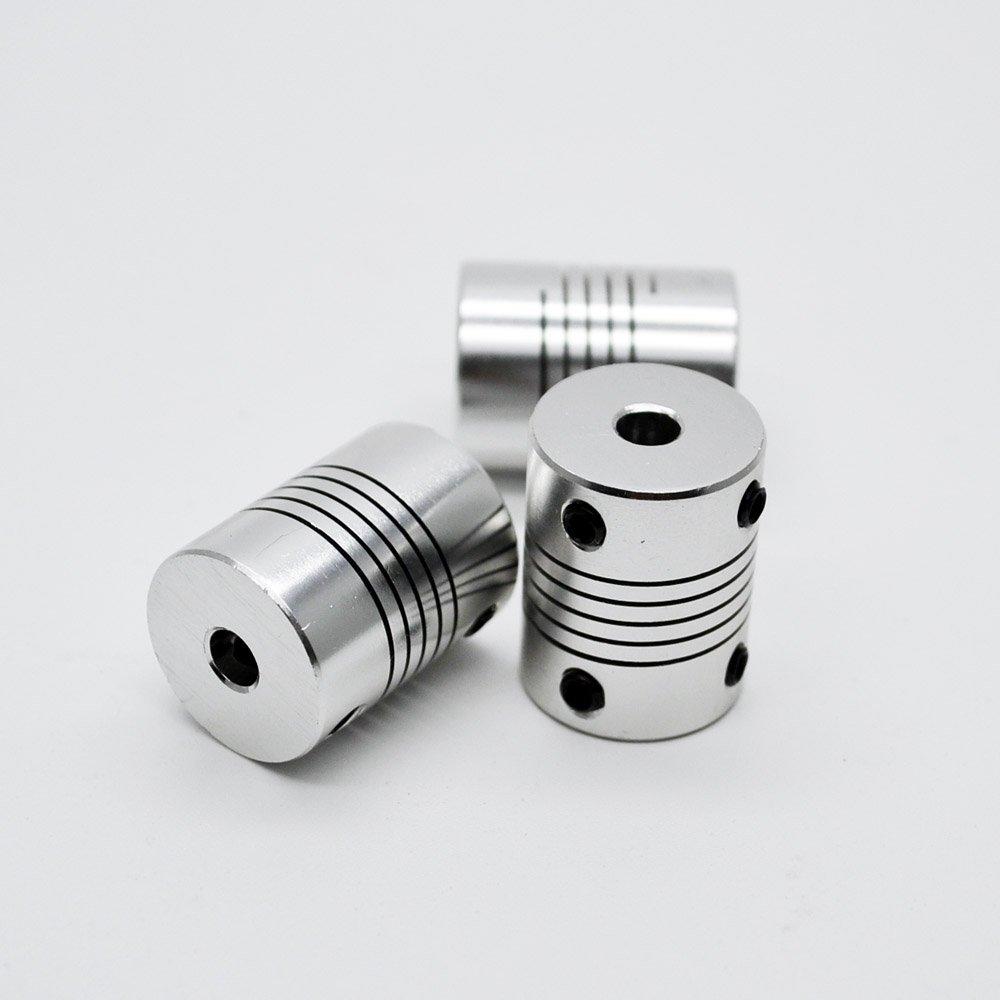 5pcs 3x4mm CNC Motor Jaw Shaft Coupler 3mm To 4mm Coupling OD 19x25mm