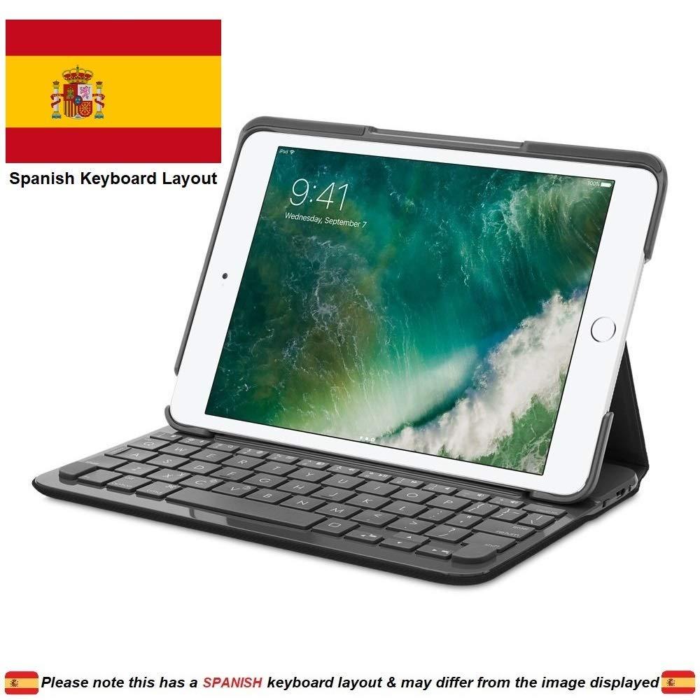 Logitech 920-007612 Canvas Folio Case con Teclado Integrado en Español para iPad Mini 1