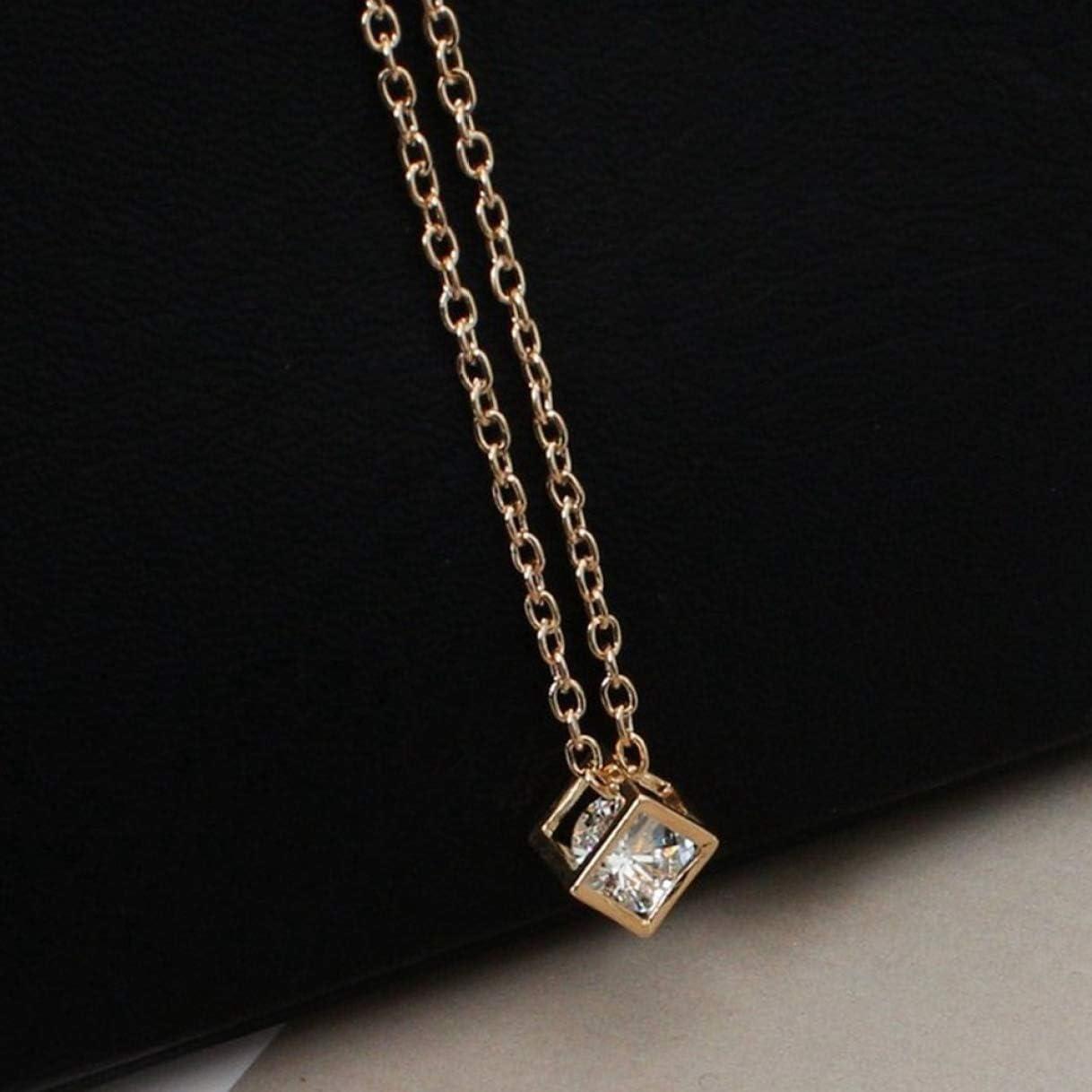 XINGSd Beautiful Fashion Collier Fashion Geometric Block Zirconium