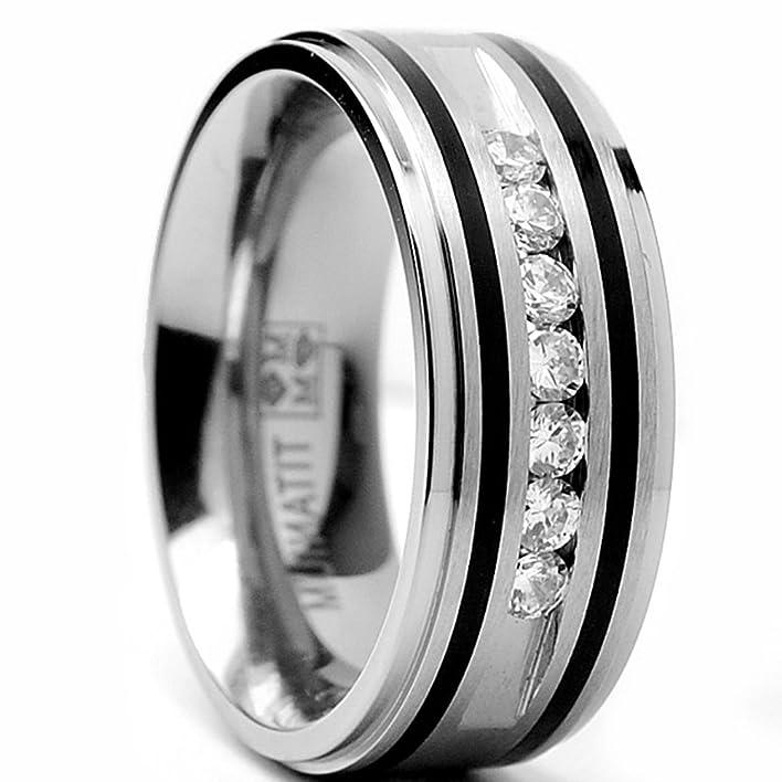 Mens Wedding Bands Matte Finish 51 Cool Amazon MM Titanium Ring