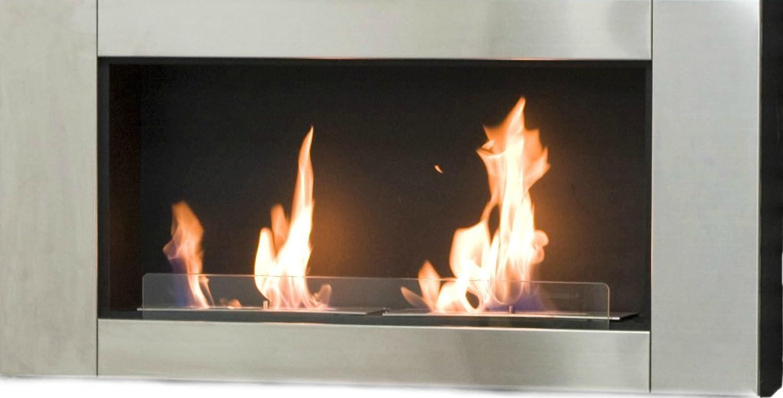 Chimenea de combustible bioetanol con diseño atractivo y fácil de instalar o empotrable - Decoración moderna. Una estufa o chimenea para crear un ambiente ...