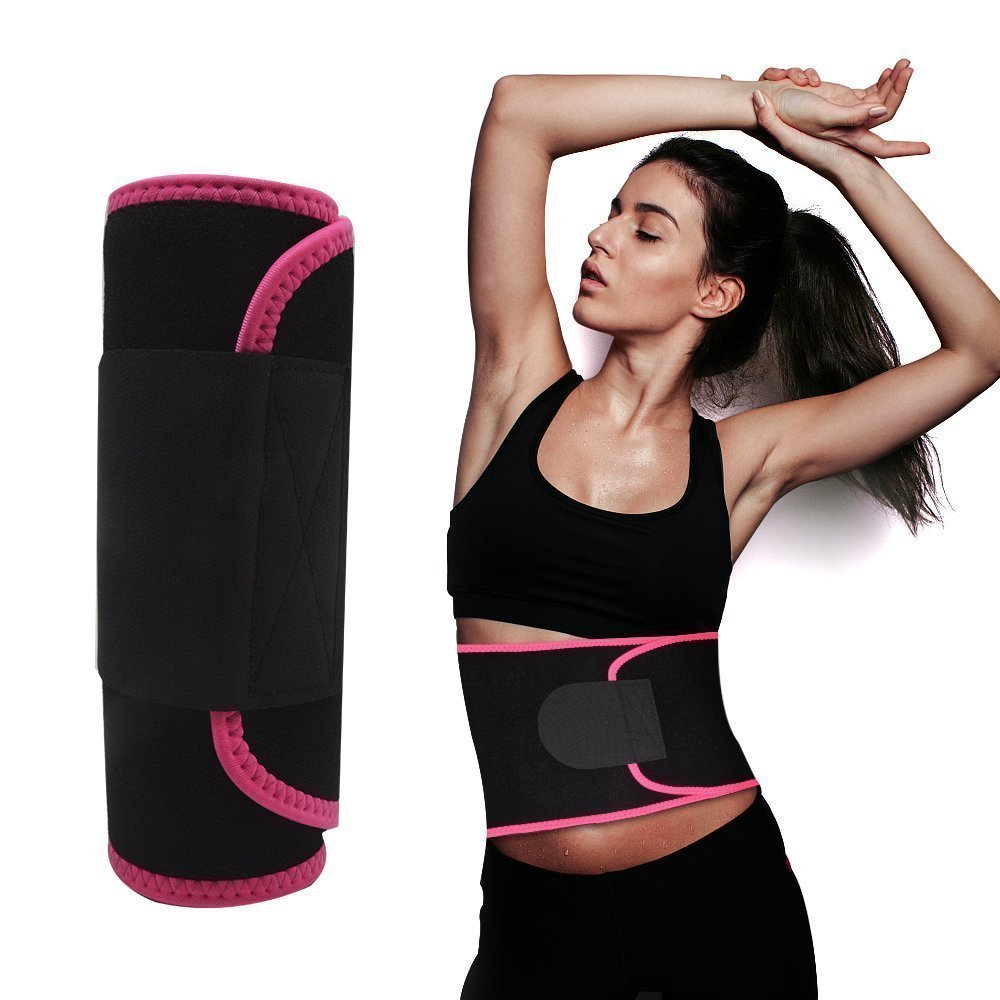 Waist Trimmer,Waist Wrap Waist Trimmer for Women Ab Belt Waist Trainer Adjustable Waist Trimmer Belt for Men Sauna Suit to Loose Weight and Keep Fit(Red) by FOISON (Image #8)