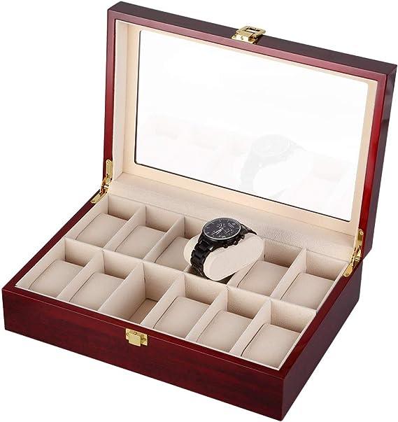 Caja para Relojes de Madera Estuche para Relojes y joyeros con 12 ...