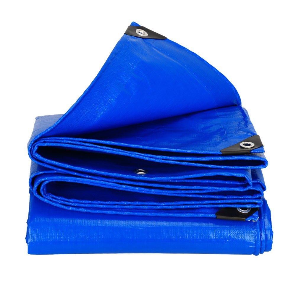 WDXJ Telo copertone Grande Telo Telo Impermeabile Tenda PE Rinforzata Tenda da Sole Tenda da Sole Tenda da Sole per Esterno -blu, 180G   M² (Dimensioni   3  4m)