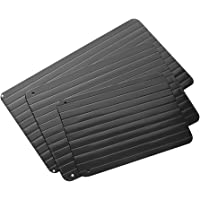 DGBAY Magic Metal Plate Defrosting Tray Safe Fast Thawing Frozen Meat Defrost Kitchen Tools (S Size)