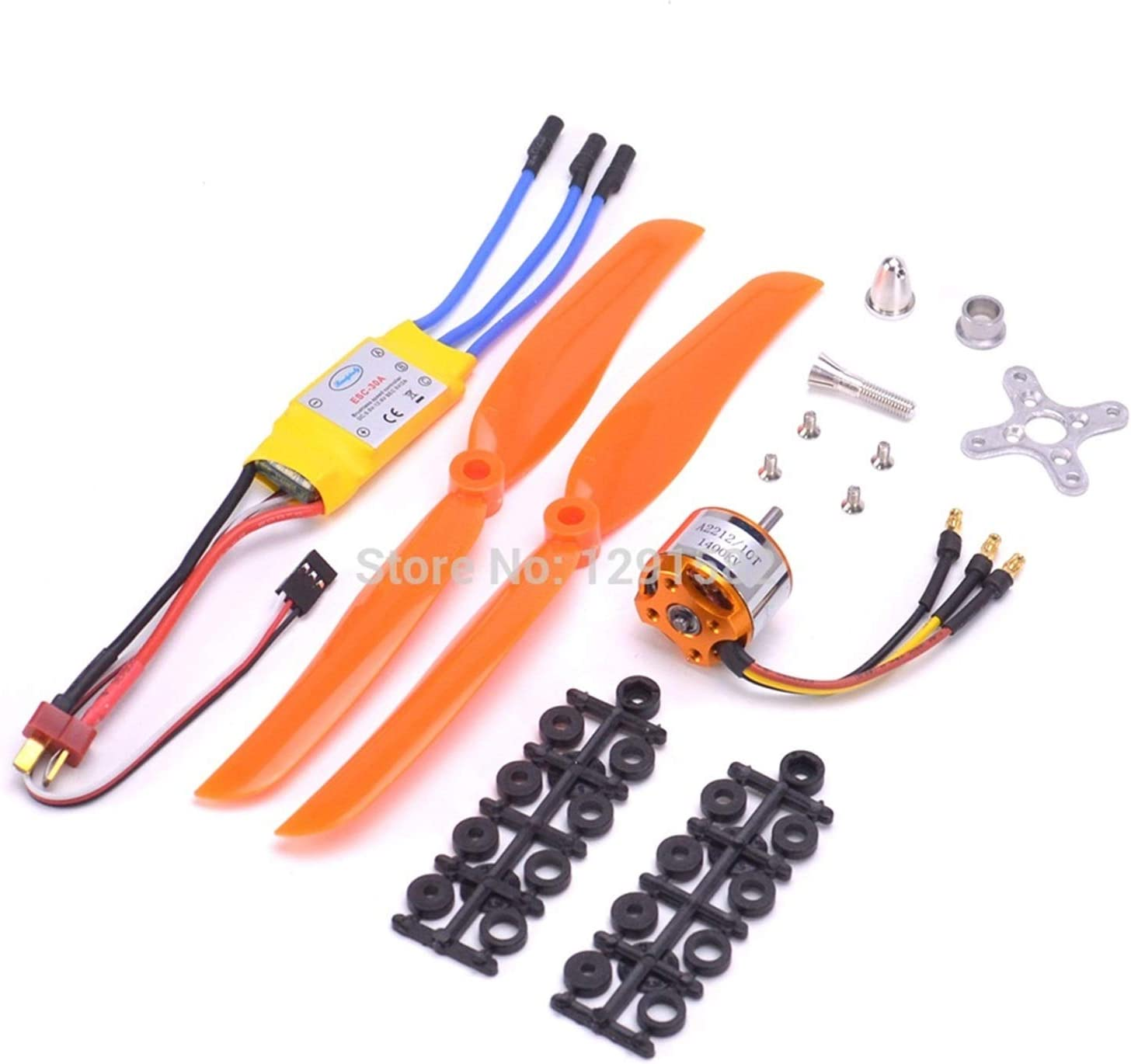 HONG YI-HAT A2212 2212 1400KV Brushless Motor 30A ESC Motor Mount 8060 Propeller SG90 9G Micro Servo set for RC Fixed Wing Plane Helicopter Drone Spare Parts Color : 2212 1400kv motor