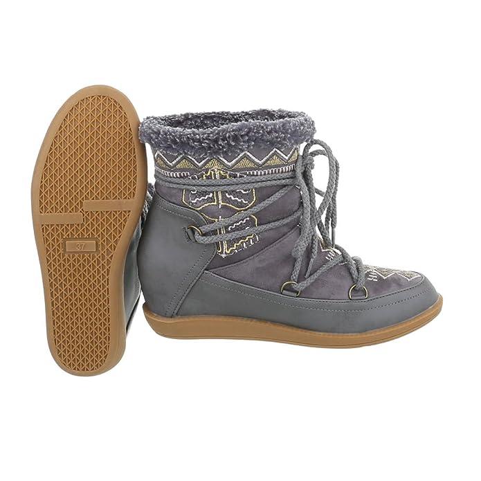 Zapatos para Mujer Botas Plataforma Botines de cuña Ital-Design: Amazon.es: Zapatos y complementos