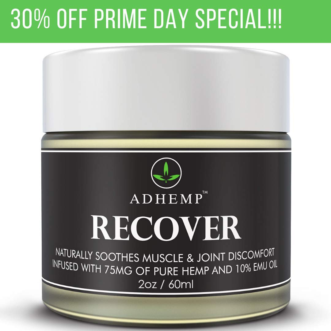 Recover Organic Hemp Pain Relief Cream Formulated