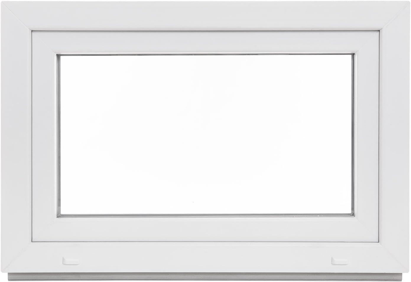 Kellerfenster Fenster LAGERWARE BxH: 50x50 cm wei/ß 60mm Profil Kunststoff DIN rechts 3-fach-Verglasung verschiedene Ma/ße