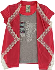 4e71c29167c5 Lily Bleu Girls 4-6x Elephant Graphic Twofer Top