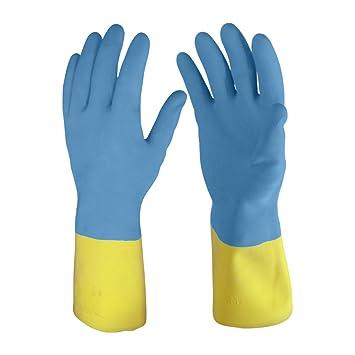 Primeway Premium Flocklined Hand Gloves, Medium (Yellow and Blue)